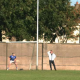 Ger Arthur taking a penalty v Crumlin
