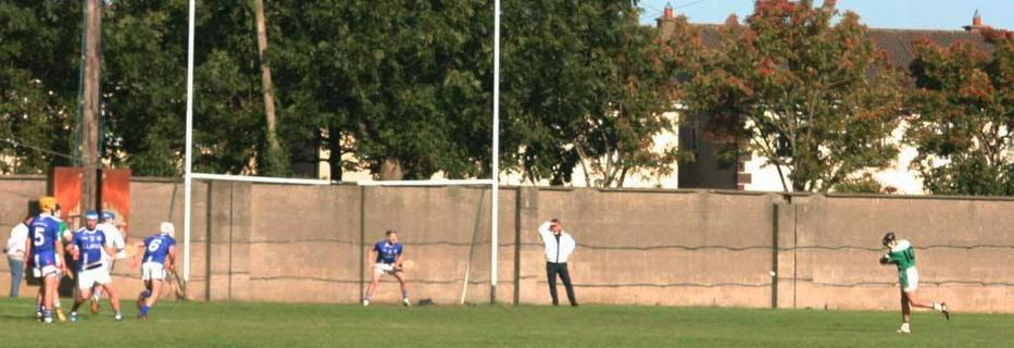 Ger Arthur taking a penalty v Crumlin